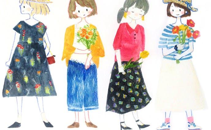 季節のファッションイラスト