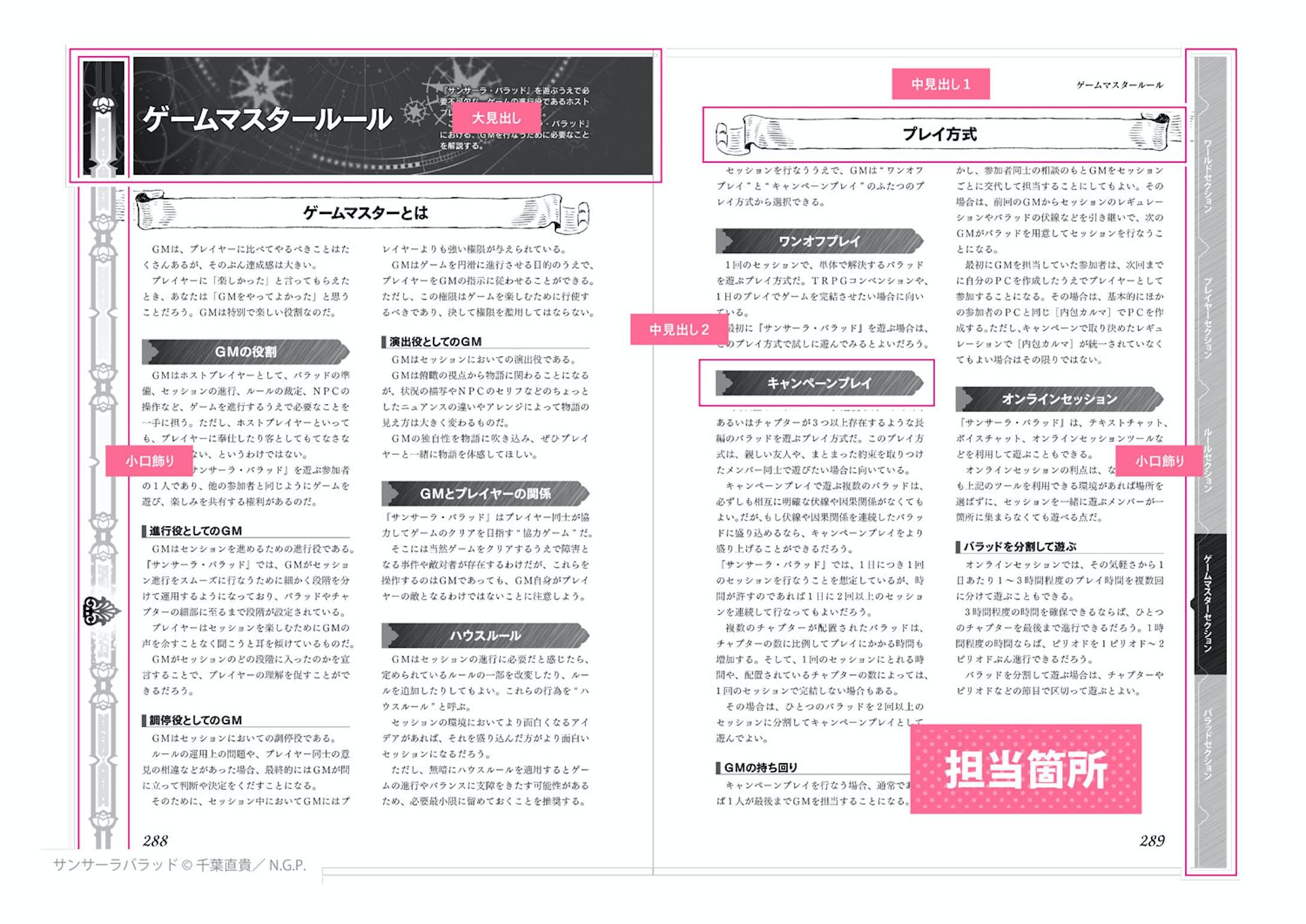 異世界転生RPG サンサーラ・バラッド - 誌面デザイン-2