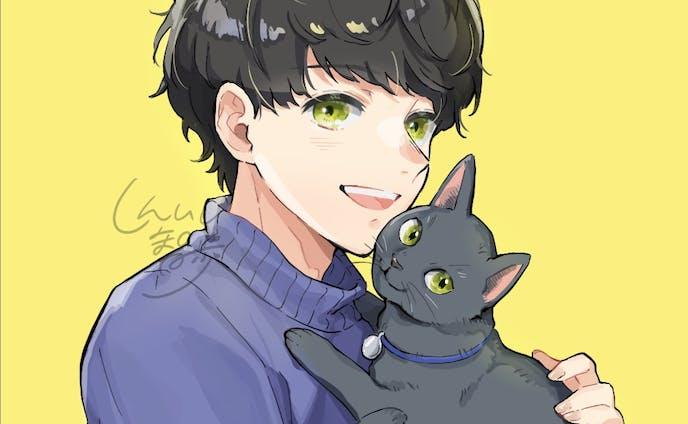 猫と一緒(男の子)