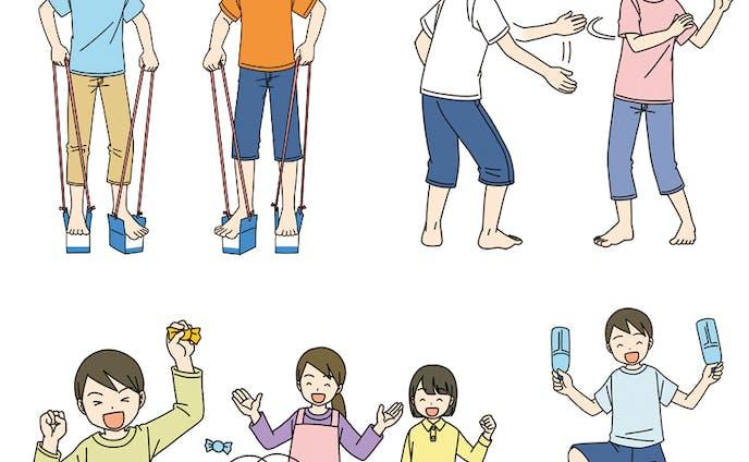 リモート生活でレクリエーション!(3)体操・ストレッチ&室内遊び(教育画劇)