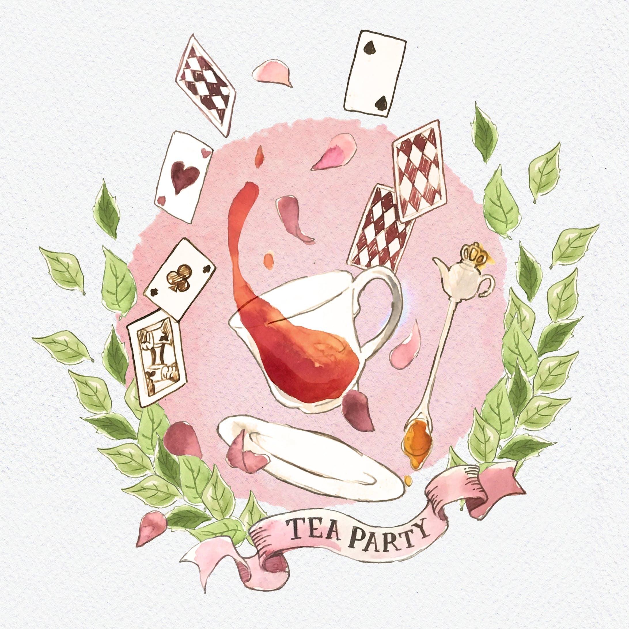 【水彩イラスト】TEA PARTY-1