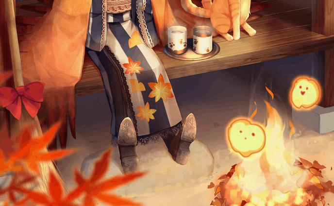 秋の魔女さんと縁側
