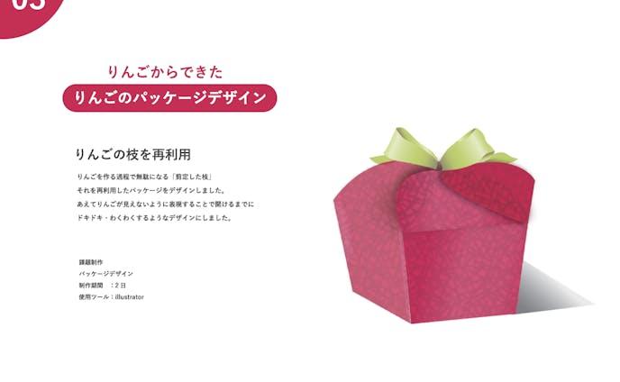 りんごからできたりんごのパッケージ