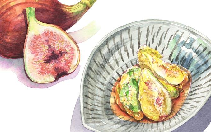 月刊『俳句四季』2019年10月号~「俳句のつまみ」挿絵
