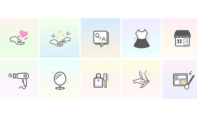 Instagramのハイライトアイコン10種