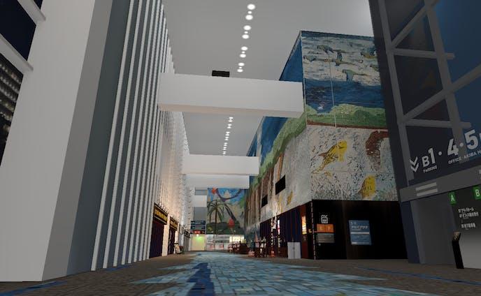 秋葉原富士ソフトビル 1 階の背景モデル