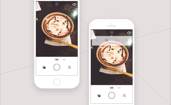 #15 カメラアプリの撮影画面