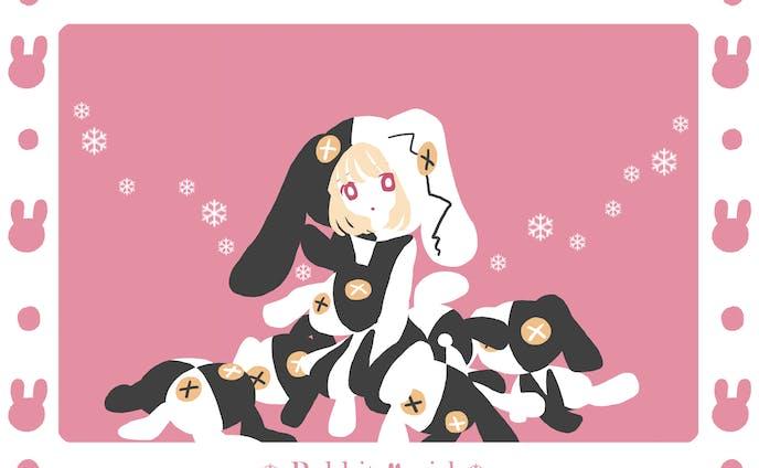 少女イラスト(主線無し)