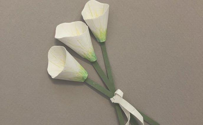 カラーの花束。