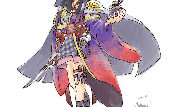 女性キャラクターデザイン