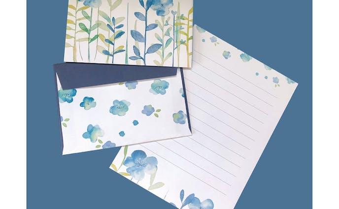 design/花のレターセット