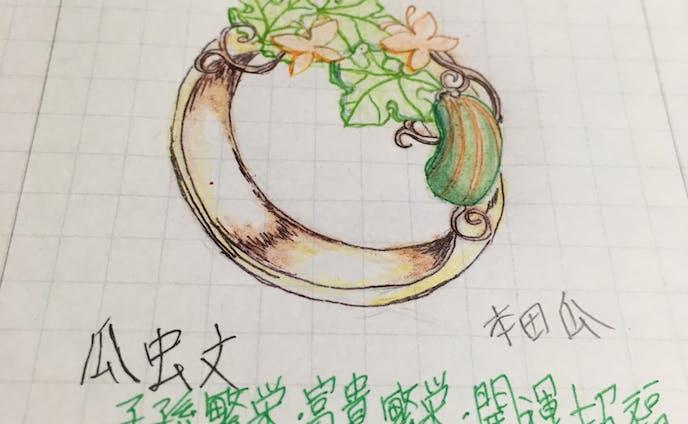 瓜虫文指輪