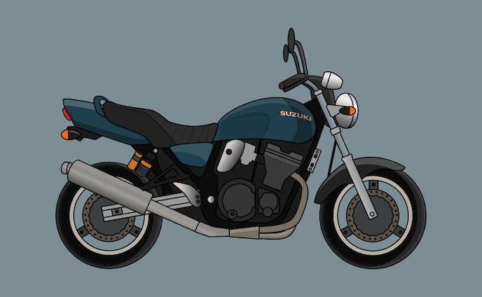 Motor Bike Illustration | BluePlum Project