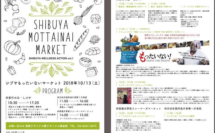 ワークショップ|しぶや・もったいないマーケット SHIBUYA WELLNESS ACTION [渋谷区]