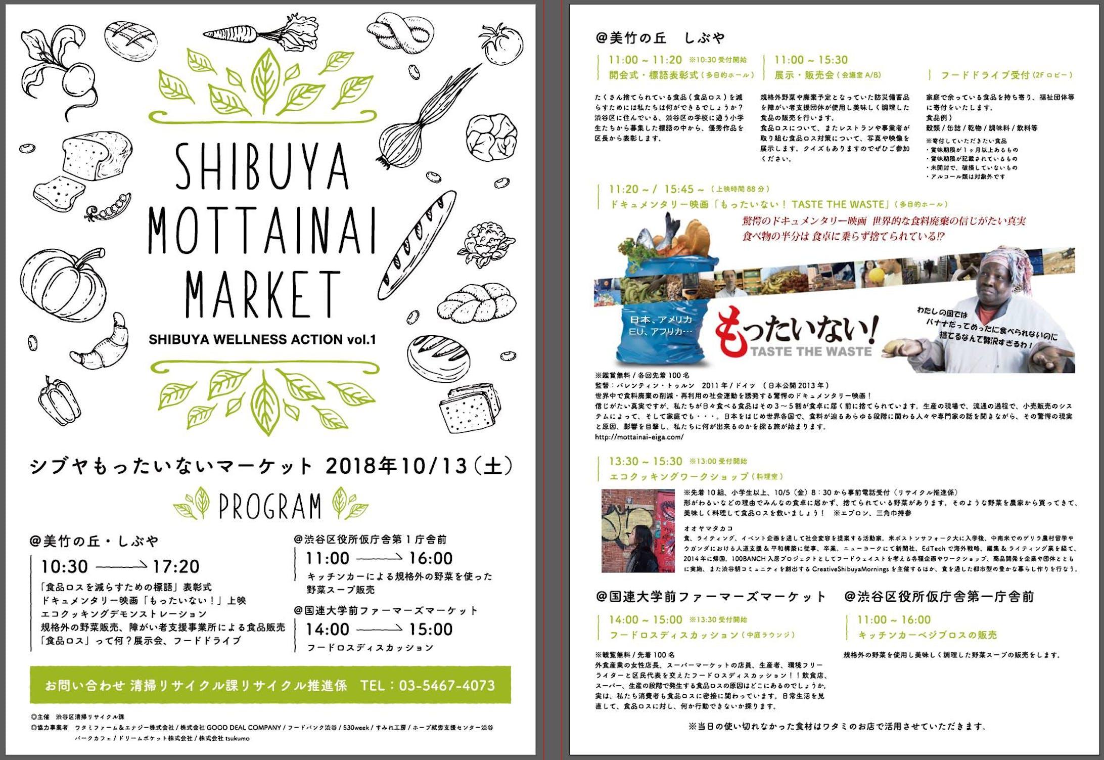 ワークショップ しぶや・もったいないマーケット SHIBUYA WELLNESS ACTION [渋谷区]-1