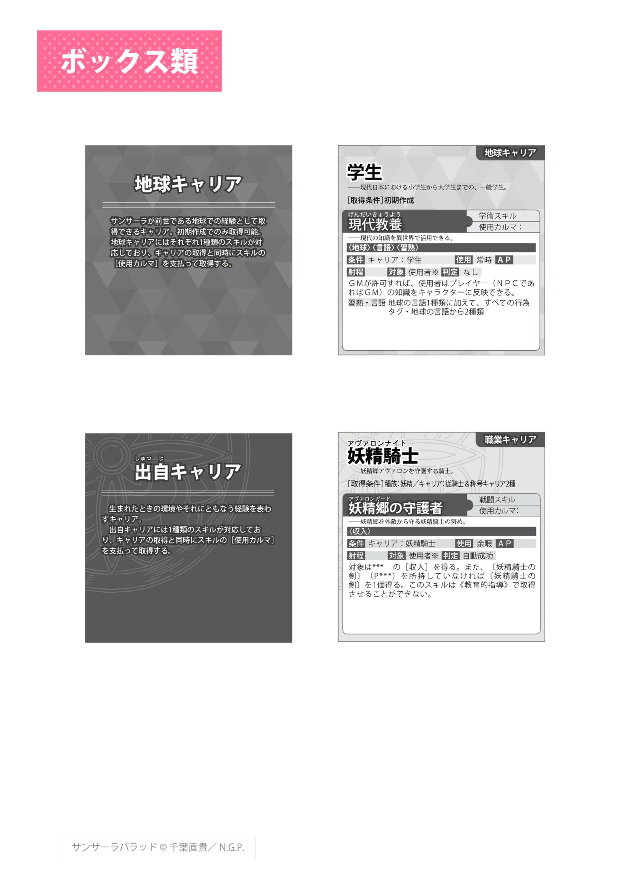 異世界転生RPG サンサーラ・バラッド - 誌面デザイン-7