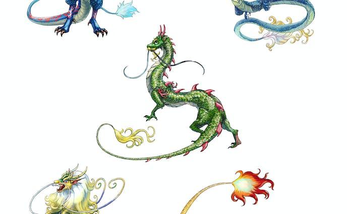 竜(ドラゴン)カットイラスト