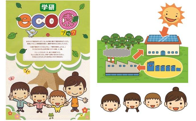 学研教育みらい 学研 eco園ブック 表紙とカット