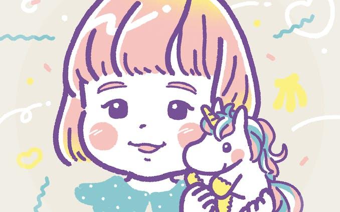 Unicorn girl |似顔絵イラスト