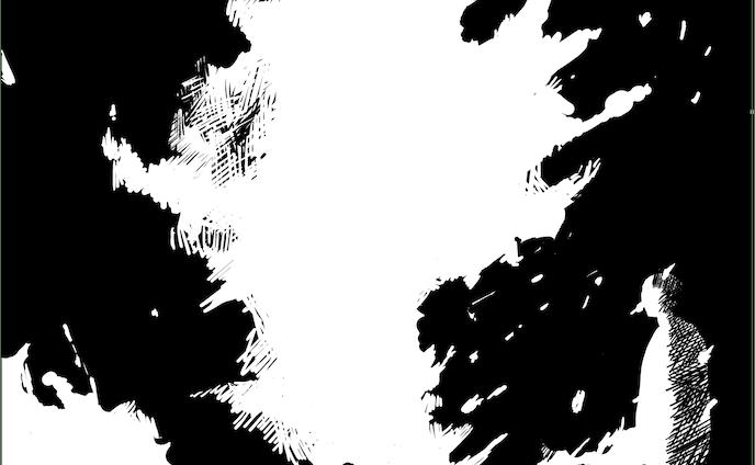 イラストレーター、モノクロ