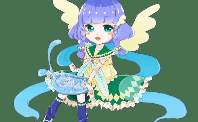 水と風の魔法少女 ミニキャラクター