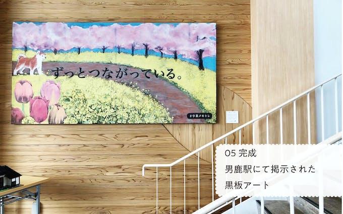 【学外活動】黒板アート制作
