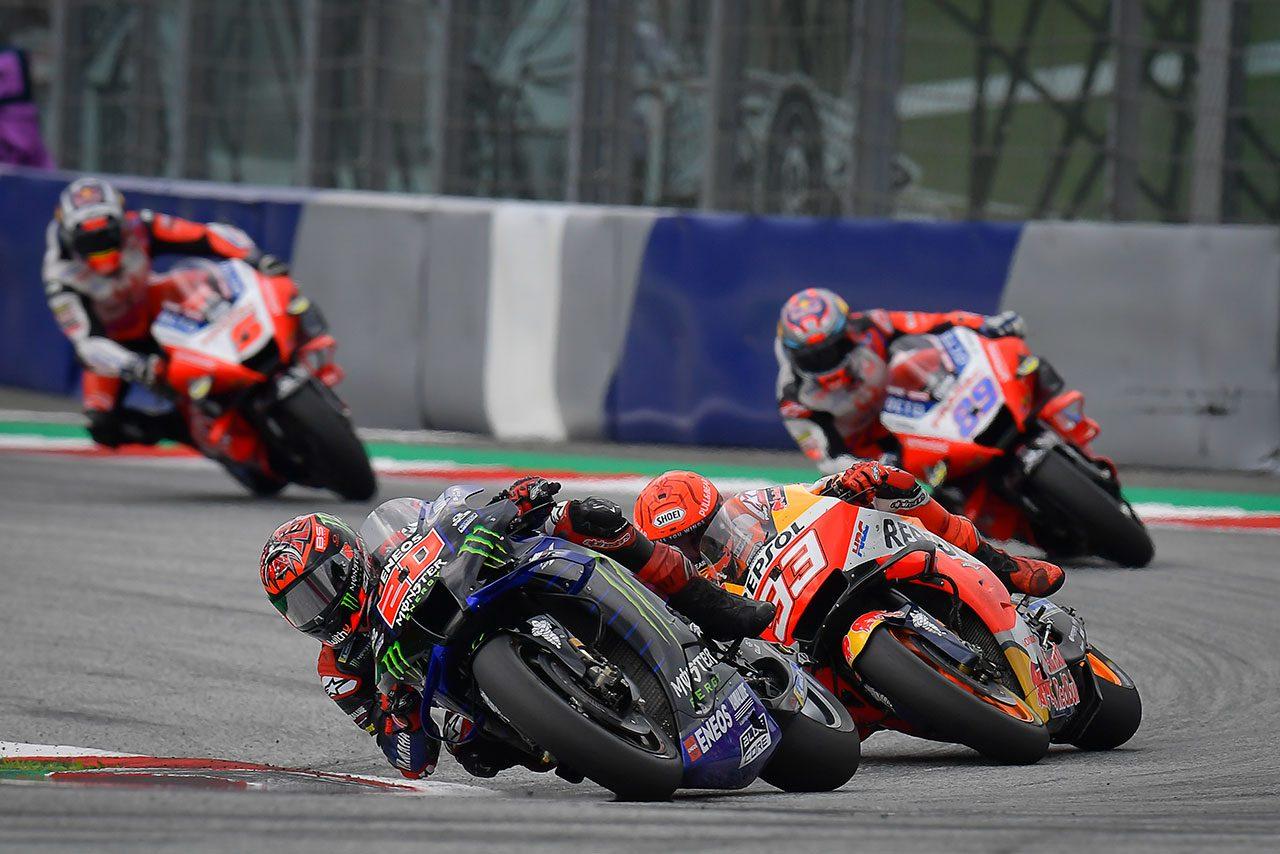 MotoGPコラム/第11戦オーストリアGP:濡れる路面状況と減っていく周回数のなか、分かれた選択と明暗