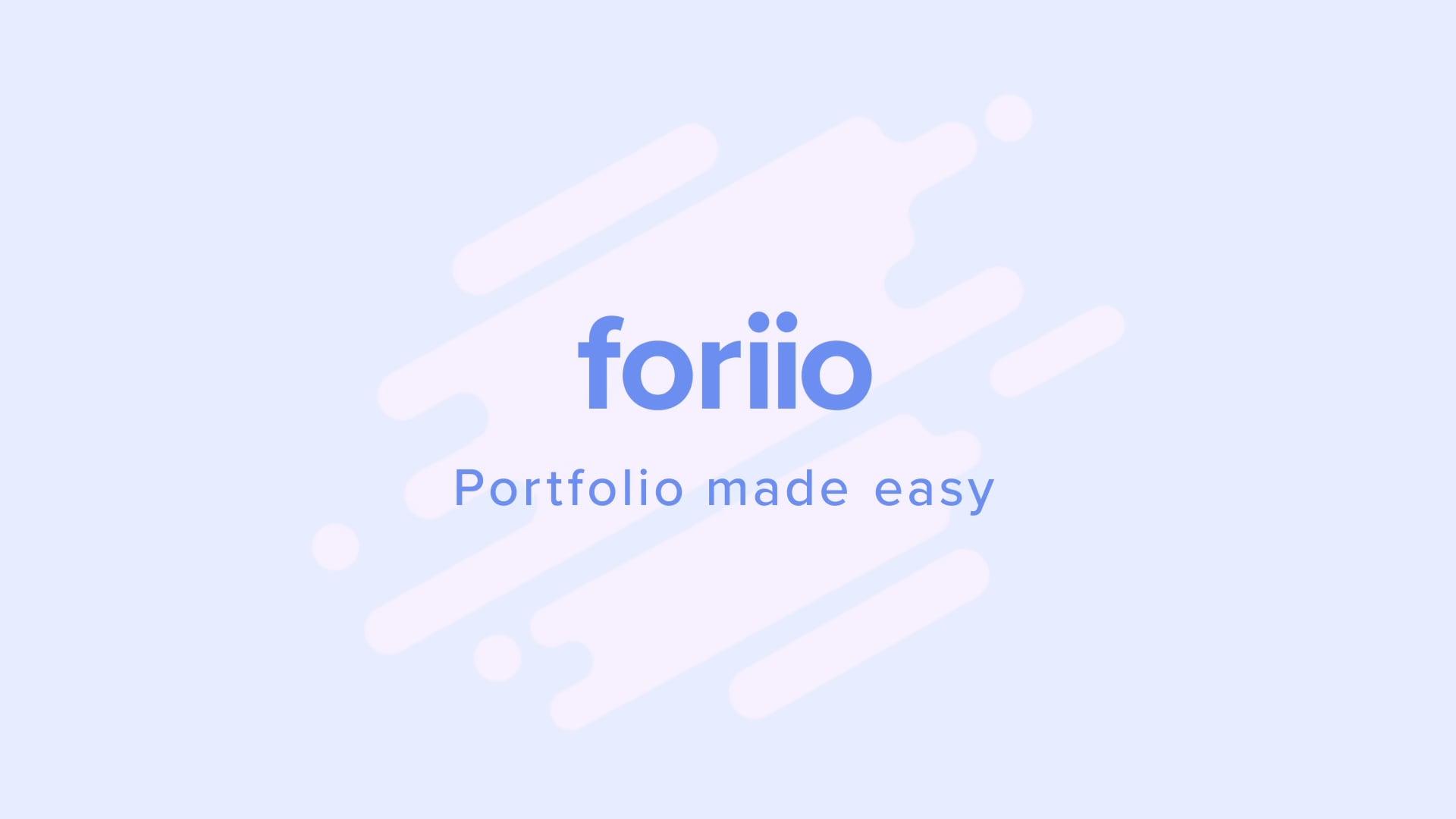 foriio - Intro video